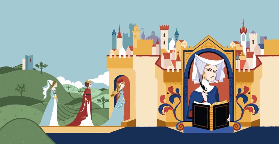 Christine e la città delle dame - Cover illustration